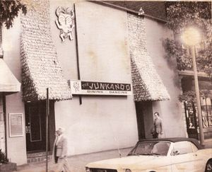 Old news photo of the exterior of Junkanoo in Washington, D.C.