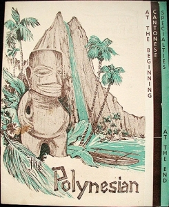 Menu cover from the Polynesian