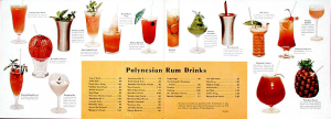 Inside the drink menu for the Waikiki Room at the Hotel Nicollet