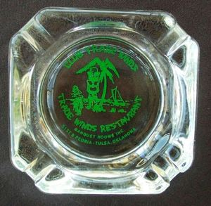 Ashtray from Club Trade Winds in Tulsa