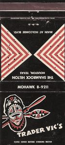 Matchbook from Trader Vic's in Houston