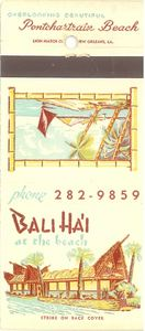 Matchbook from Bali Ha'i at the Beach in New Orleans