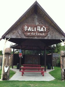 Remnants of Bali Hai used as a picnic shelter at Kenner Veterans Memorial Park in Kenner