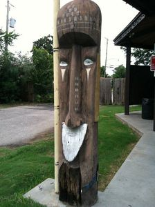 Tiki from Bali Hai that is, sadly, rotting away at Kenner Veterans Memorial Park in Kenner