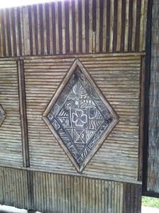 Bamboo panel from the Bali Hai at Kenner Veterans Memorial Park in Kenner