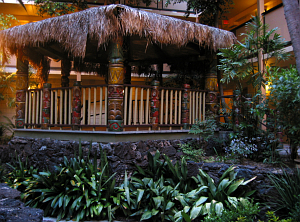 Tiki gazebo at the Hanalei Hotel in San Diego