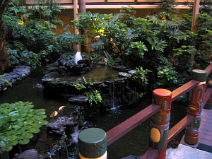 Water garden at the Hanalei Hotel in San Diego