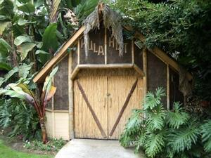 Hut at the Red Lion Hanalei Hotel in San Diego
