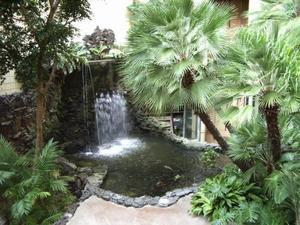 Waterfall at the Red Lion Hanalei Hotel in San Diego