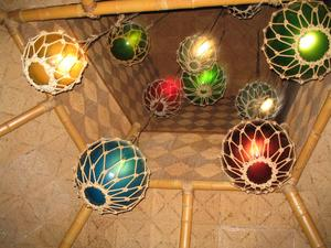 Float lights at The Islands Restaurant in San Diego