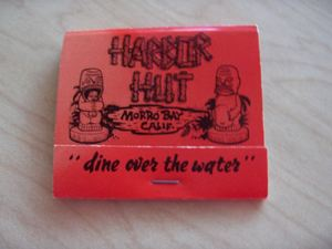 Matchbook from Harbor Hut in Morro Bay