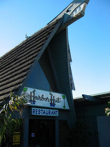 Entrance to Harbor Hut in Morro Bay