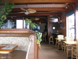 The dining room at Harbor Hut in Morro Bay