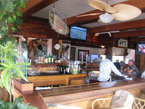 The bar at Harbor Hut in Morro Bay