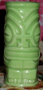Shot-sized tiki mug from Hula's Island Grill & Tiki Room in Monterey
