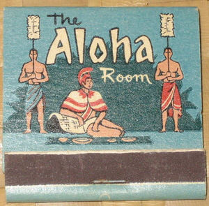 Matchbook from the Aloha Room in Portland
