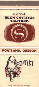Matchbook from Kon-Tiki in Portland