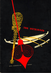Menu cover from the Outrigger in Denver