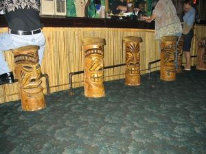 Barstools at Rock-a-Tiki in Chicago
