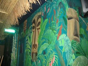 Wall mural at Rock-a-Tiki in Chicago