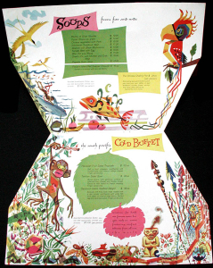 Interior of a menu from Mauna Loa in Mexico City