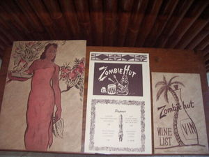 Menus from Zombie Hut in Sacramento
