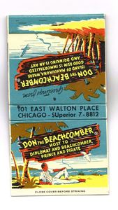 Matchbook from Don the Beachcomber in Chicago