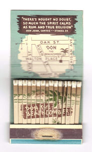 Inside of a matchbook from Don the Beachcomber in Chicago