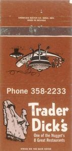 Matchbook from Trader Dick's in Sparks