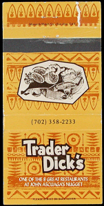Matchbook from Trader Dick's