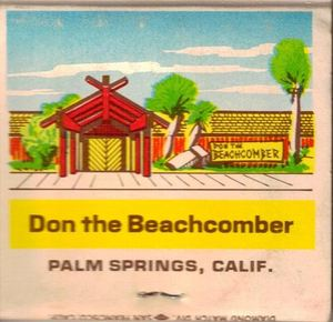 Matchbook from Don the Beachcomber in Palm Springs
