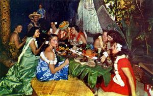 Luau postcard at Don the Beachcomber in Waikiki