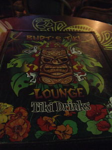Menu cover at Burt's Tiki Lounge in Albuquerque