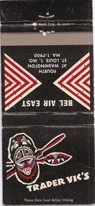 Matchbook from Trader Vic's in St. Louis