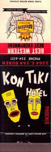 Matchbook from Kon Tiki Hotel in Phoenix