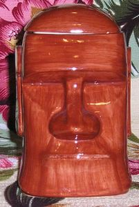 Lidded moai mug from Aku Aku in Las Vegas