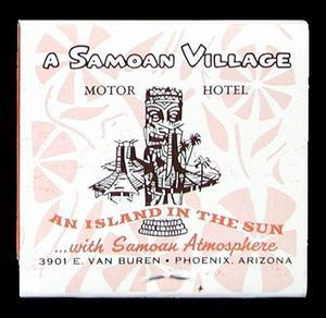 Matchbook from Samoan Village in Phoenix