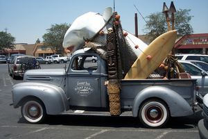 Photo of the Tiki Truck at Coconut Joe's in Bakersfield