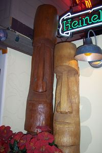 Tikis at Coconut Joe's in Bakersfield