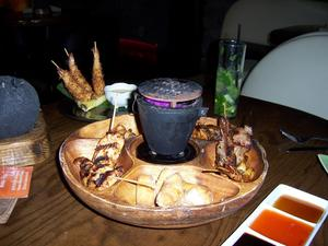 Pupu platter at Drift Lounge in Scottsdale