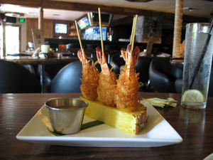 Shaved coconut shrimp at Drift Lounge in Scottsdale