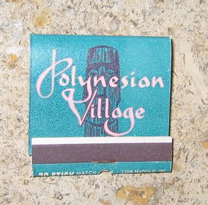 Matchbook from Polynesian Village in Chicago