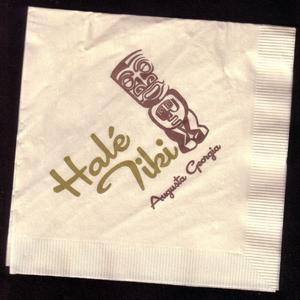 Napkin from Hale Tiki in Augusta