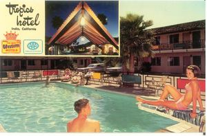 Postcard from Tropics Motel in Indio