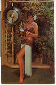 Postcard of Kalua the Kahiki Mystery Girl, from Kahiki Supper Club in Columbus
