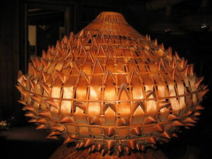 Light fixture from Kahiki Supper Club in Columbus