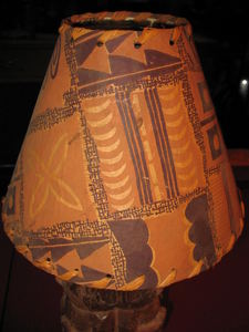 Lamp shade from the first table lamps used at Kahiki Supper Club in Columbus