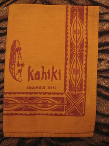 Cloth napkin from Kahiki Supper Club in Columbus
