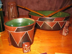 Hoffman pottery from from Kahiki Supper Club in Columbus
