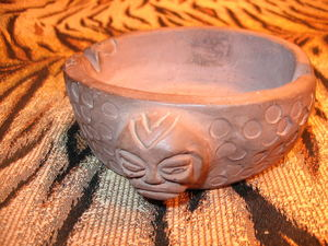 Early ashtray from Kahiki Supper Club in Columbus, made by Bill Sapp's wife